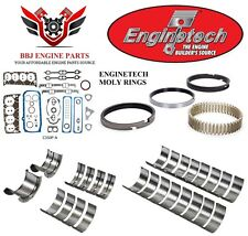 ENGINETECH CHEVY SBC 350 5.7 LT1 RE RING REBUILD KIT WITH MAIN BEARINGS 92 - 97