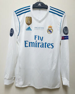 2017-18 Real MADRID Home L/S No.7 RONALDO UCL 2018 UEFA Champions League FINAL
