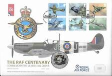 2018 RAF Spitfire Five Pounds Silver Proof Coin in RAF 100th Anniversary Cover
