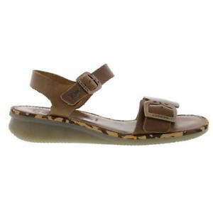 Fly London Comb Womens Ladies Leather Jesus Sandals Brown Size 4-8