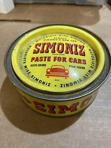 Vintage Simoniz Paste Wax Can Chicago IL Advertising