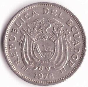 20 Centavos 1978 Ecuador Coin KM#77.2a