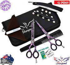 New SHARPEND Barber Hairdressing School College Scissors Kit Cutting Thinning