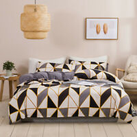 Fashion Geometric Black White Bedding Set Duvet Cover Comforter Cover PillowCase