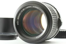 [NEAR MINT] Minolta New MD 85mm F2 MF Telephoto Lens w/ Hood from Japan