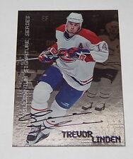 BAP Be A Player Trevor Linden Autograph 1999 R6854