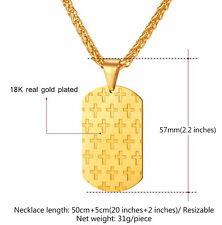 Kette mit Kreuz Anhänger Gold  750er Gold vergoldet  + Geschenkbox + Beutel Free