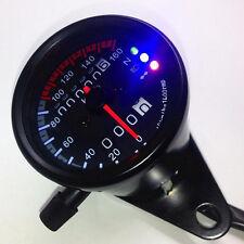 Universal Motorcycle Vintage Odometer KMH Speedometer & Mileage Meter Gauge HOT