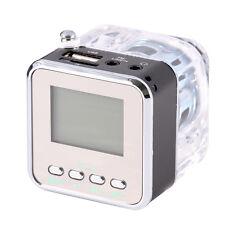 TT-028 USB TF Card MP3 Player FM Radio Mini Digital Speaker Metal Transparent