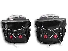 Rigid Loctite Saddlebags Black For Harley-Davidson
