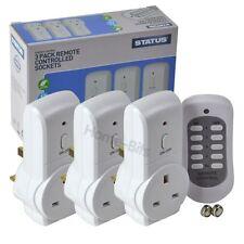 Statut 13A Sockets Télécommande Commutateur sans fil maison secteur prise électrique 3 Pack