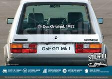 "1 Adesivo grande 50cm    /""VW DAS ORIGINAL...../"" anno a scelta da 1976 a 2020 !"