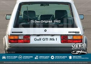 "Aufkleber Stickers ""Das Original.[1976/2017-GTI]"" Golf Combi Polo Transporter"