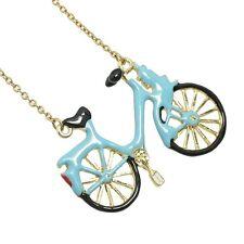 Collana in Oro Grande Bicicletta Retrò Vintage Kitsch ECCENTRICO dichiarazione Ciclista CICLO