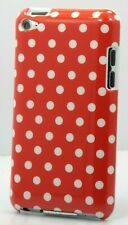 Fits IPOD TOUCH 4TH 4 TH 4 GEN ITOUCH red & WHITE POLKA DOT HARD BACK CASE CUTE