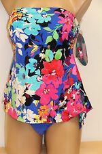 New Swim Solutions Swimsuit Bikini 1 piece attached Dress Sz plus 22W Strapless