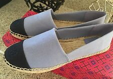 Stunning*TORY BURCH Flats Color Block ESPADRILLE BALLERINA FLATS SIZE 9 Sold Out