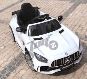 Kids Licensed Mercedes Benz AMG GTR SLS 12V Battery Ride On Remote Car White