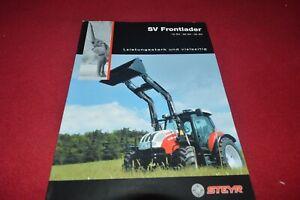 Steyr Tractor 15 30 35 SV Front Loader Dealers Brochure CDIL