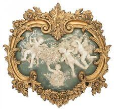 Imagen relieve de alabastro con 63x65cm marco Ángel Putte faux estilo antiguo