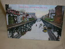 Vintage New York Postcard Bowery, North of Grand Street New York Not Used