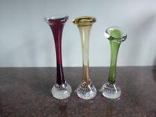 Aseda Gasbruk / Swedish Art Glass - Jack In The Pulpit / Bone Vases