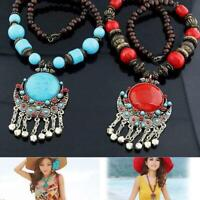 Women Vintage Retro Boho Pendant Long Chain Sweater Necklace Jewelry Charm Gifts