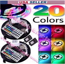 2*5M Led Strip Lighting 32.8 Ft 5050 RGB 300LEDs Flexible Color Changing Lights