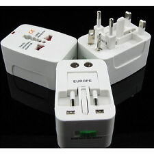 EU AU UK US To Universal World Travel AC Power Plug Convertor Adapter Socket KY