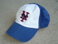 Vintage New York Mets Hat Baseball Cap Twins Enterprise MLB WHITE BLUE ORANGE