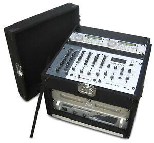 DJ Carpet CASE RACK Mischpult CD-Spieler MP3  Endstufen Funkmikrofone 19 Zoll