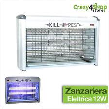 ZANZARIERA ELETTRICA DUE LAMPADE A FLUORESCENZA ANTI ZANZARE GIARDINO 12W MT-012