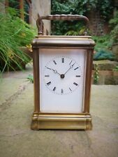 More details for a beautiful antique gilt bronze bell striking carriage clock (c1880) - vg cond