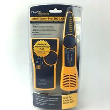 Fluke Networks IntelliTone Pro 200 LAN Kit Digital Toner & Probe MT-8200-60-KIT