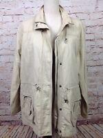 Chicos Size 2 Safari Cargo Utility Wind Jacket Women's Coat Zip Up Khaki