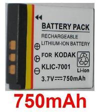Akku 750mAh typ DLI-213 KLIC-7001 BLi-286 Für Kodak EasyShare M1063