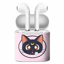 New Sailor Moon Luna Custom Personalized Case Cover Headset Earphone Bluetooth