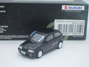 Suzuki Swift GTi Twin Cam 16 Valve 1989 black 1/64 BM Creations