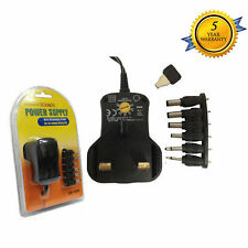 Universal Mains AC/DC Power Adaptor Supply Plug Charger  3v 4.5v 6v 7.5v 9v 12v