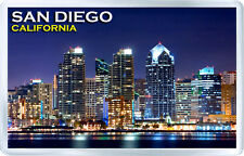 SAN DIEGO CALIFORNIA USA AT NIGHT FRIDGE MAGNET SOUVENIR IMAN NEVERA