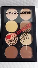 LA COLORS CONTOUR PALETTE MAKE UP- 8 BLENDABLE FACE POWDERS. LIGHT-MEDIUM