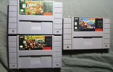 Donkey Kong Country 1 2 & 3 Lot (Super Nintendo, SNES) - AUTHENTIC & Tested