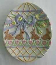 Fitz and Floyd Essentials, Easter, Egg Shaped, Bunny Decorative Dish