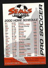 Bay Area Seals--2000 Magnet Schedule--A League