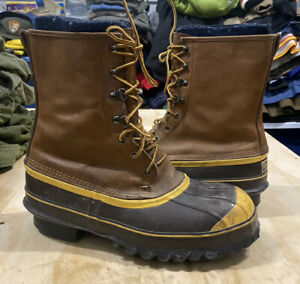 LaCrosse Pac Boot Ice Fishing Rain Hunting STEEL TOE Lace Up Boots Size 10