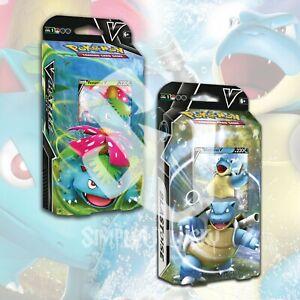 Pokemon TCG: V BATTLE DECKS   BLASTOISE V & VENUSAUR V BUNDLE FACTORY SEALED