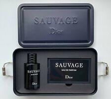Dior SAUVAGE EAU DE PARFUM 10 ml 0.34 FL OZ MINIATURE IN BOX CASE VIP GIFT