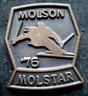 Vintage Ski Pin -  Molson Molstar '76 - Stamped C. Lamond Montreal