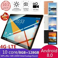 10.1 Pouces Tablette Tactile WiFi 4G-LTE Tablet 8+128Go PC Android 8.0 Doule SIM