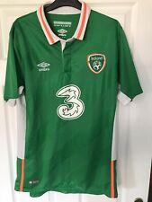 Mens Umbro Republic of Ireland Home football shirt 2016 - 2018 Size L